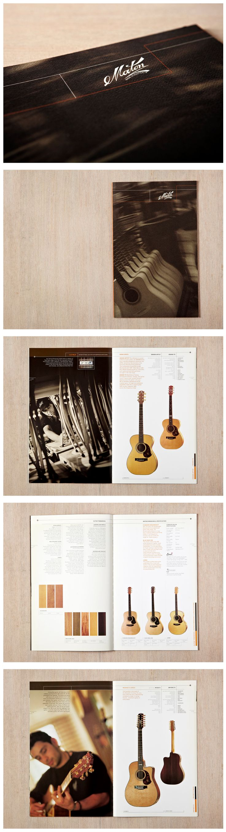Maton Guitars ~ This musical instrument manufacturer was unable to convey the premium in their guitars in an increasingly global market. Liquid recast Maton's brand to exude warmth and inject a craftsman's skill and experience into their brand personality. We then designed a new catalogue which promoted Maton Guitars traditions of quality, attention to detail and innovation and positioned their guitars as a collector's item.