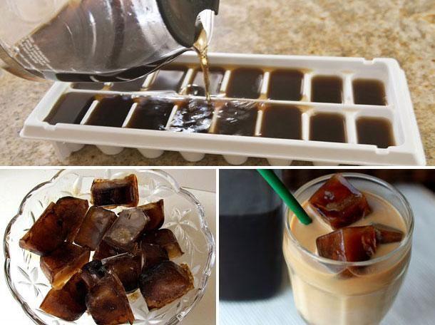 Préparer des glaçons de café pour les cafés glacés de l'été