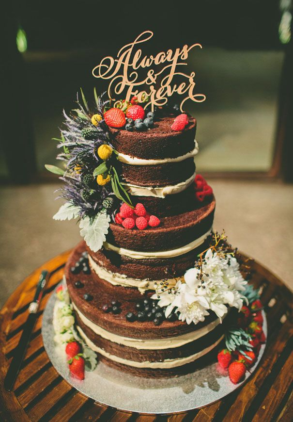 three-tier-naked-floral-cake-topper-decorations-wedding-inspiration: