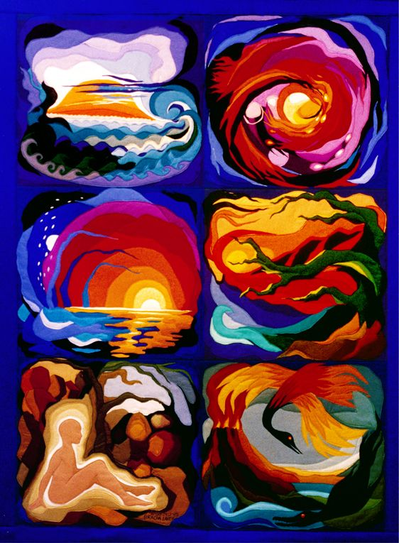 Six Days Of Creation Original Tapestry Bycha Lavee Cha Lavee Art In 2019 Pinterest Jewish Art Art And Artist