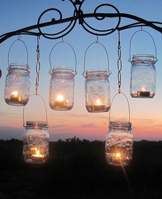 How fun are these jar lanterns!? Love it :) So doing this for the summer garden party.. #ZeviaSummer.