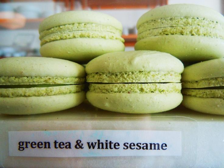 Green tea and white sesame at La Bamboche in Toronto.