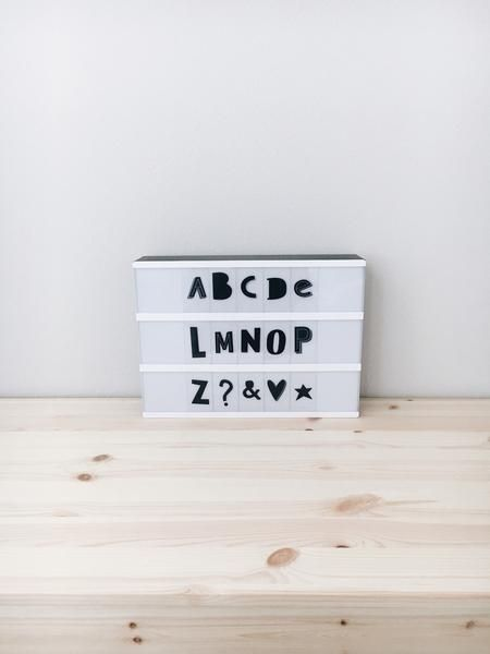 Lightbox Letter Set - Funky Black By: A Little Lovely Company Description: Pimp your Little Lovely lightbox with this funky letter set! This set gives your lightbox so much more possibilities... Slide on!  This set contains 85 letters Sold@Mintedmethodshop.com