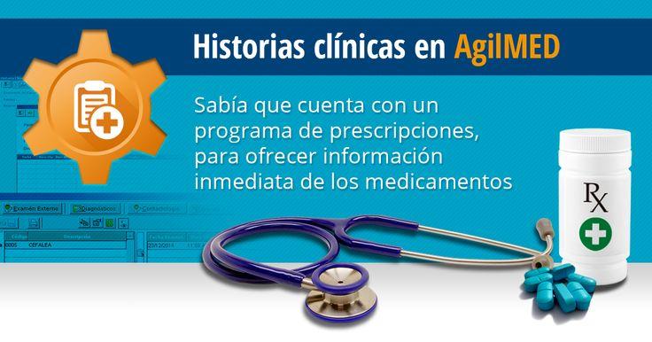 El módulo de historias clínicas cuenta con un programa para prescripción de laboratorios, un programa para prescripción de fórmulas de refracción visual, incapacidades y remisiones | #Software #HistoriasClinicas #Clinicas | http://www.sydicol.com.co/agilmed/modulos/historias-clinicas/