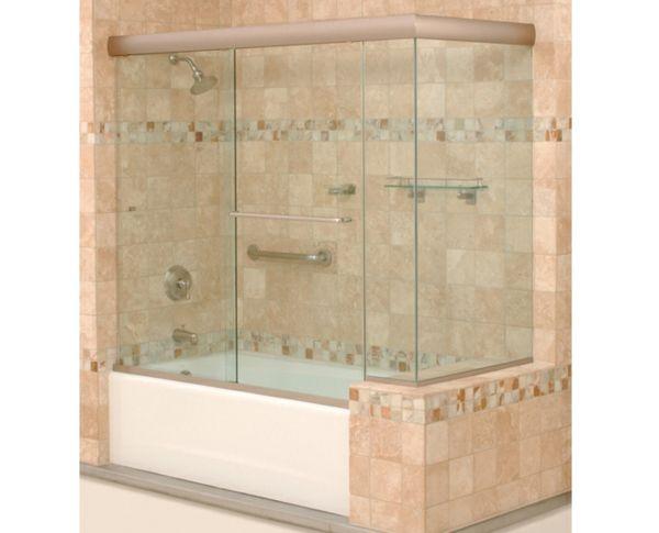 un beau carrelage salle de bains et pare baignoire coulissant