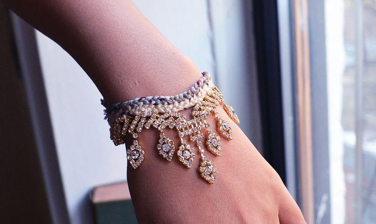 DIY Rhinestone Friendship Bracelet by allthegoodgirlsgotoheaven DIY Rhinestone Bracelet allthegoodgirlsgotoheaven