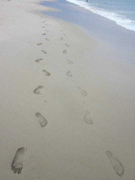 Feet in the Sand  footprints in Ocean City Maryland