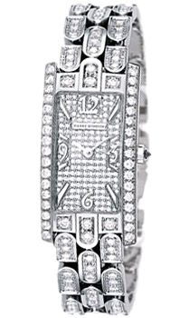 This Harry Winston Avenue C Ladies watch in 18K white gold features a diamond dial, a diamond bezel, and a gorgeous 18K white gold diamond link bracelet. The Harry Winston Avenue C Ladies watch also features a quartz movement, is water resistant to 30 meters, and has an impressive total diamond weight of 6.25 carats.