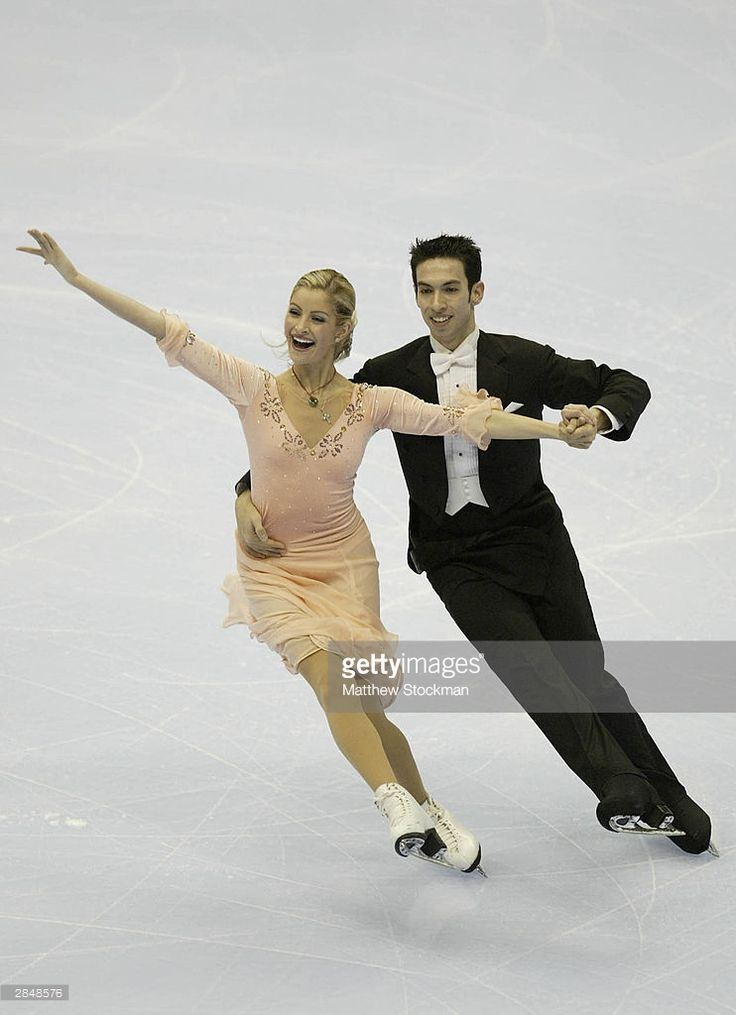ATLANTA - JANUARY 6: Tanith Belbin and Benjamin Agosto compete in the compulsory dance during the State Farm US Figure Skating Championships January 6, 2004 at Philips Arena in Atlanta, Georgia. (Photo by Matthew Stockman/Getty Images)