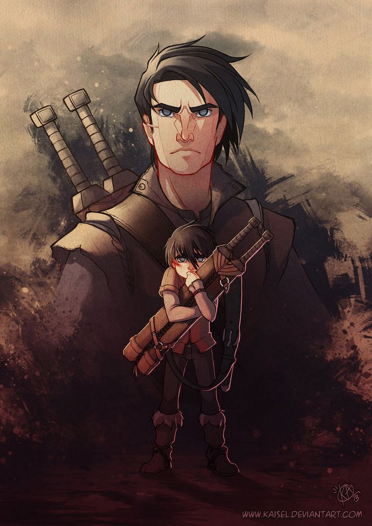 """""""Just a small orphan boy left alone with his father's swords. How was he supposed to fight the darkness all on his own? He learned to take care of himself, and grew up into the young man you see before you now. But that doesn't mean that sometimes he's that boy again, clutching his father's swords, alone and afraid."""" (B1: A Journey into Time) ~Wendy Hamlet (King without a crown by Kaisel on deviantART)"""