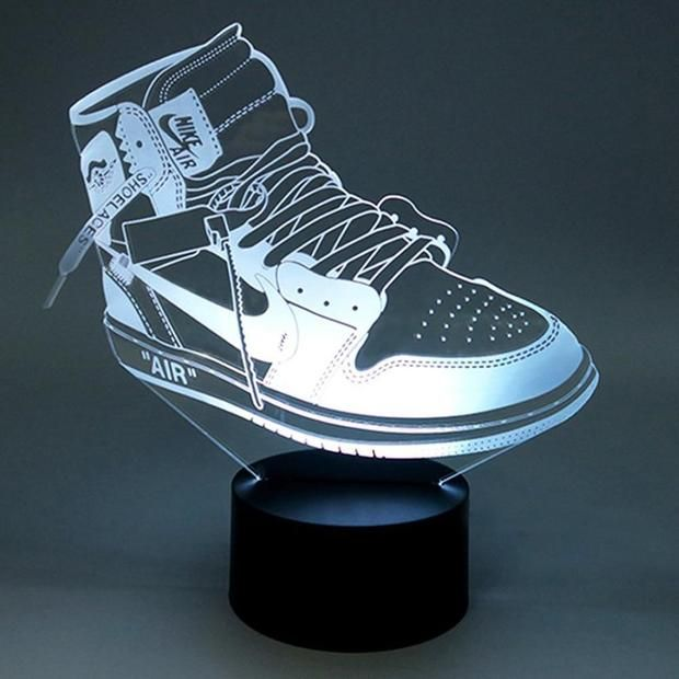 Sneaker LED | Night light kids, Jordan 1 off white, Air jordans