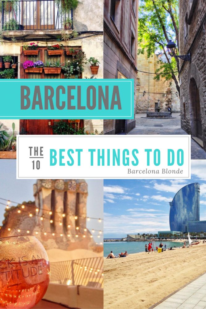 Ten of my absolute favorite things to do in Barcelona - from checking out some of the main tourist attractions to little local gems.