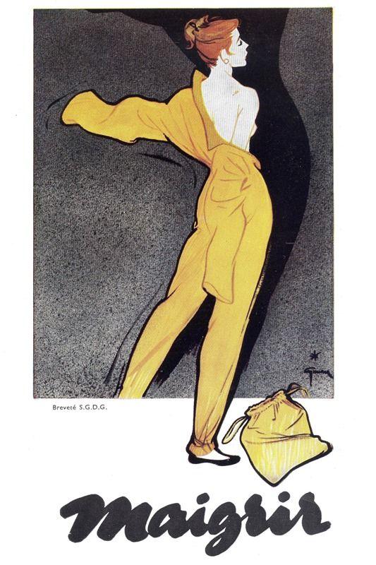 LISETTE PARIENTÉ 1957-Gruau