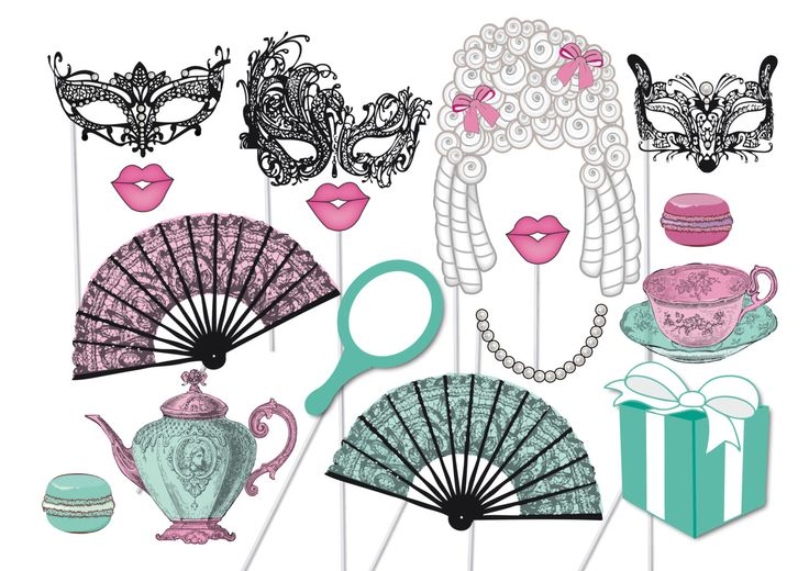 High Tea Photobooth Party Props Set - 16 Piece PRINTABLE - Marie Antoinette, french decorations, teapot, teacup masquerade Photo Booth Props by TheQuirkyQuail on Etsy https://www.etsy.com/listing/219373654/high-tea-photobooth-party-props-set-16