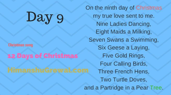 12 days of christmas hindi song lyrics