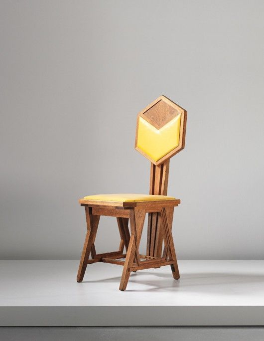 Frank Lloyd Wright: 'Peacock' chair, designed for the Imperial Hotel, Tokyo…