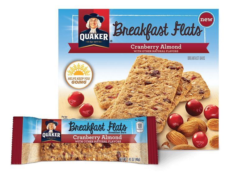 Product Snack Bars - Quaker Breakfast Flats, Cranberry Almond | QuakerOats.com