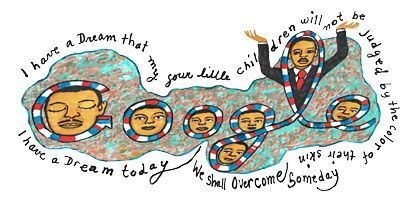 Faith Ringgold's design and artwork   Martin Luther King Google Doodle for 2012: Celebrates Martin, Birthday, Dream, Martin Luther King 2012 Hp, Google Doodles, Nu'Est Jr, King Jr