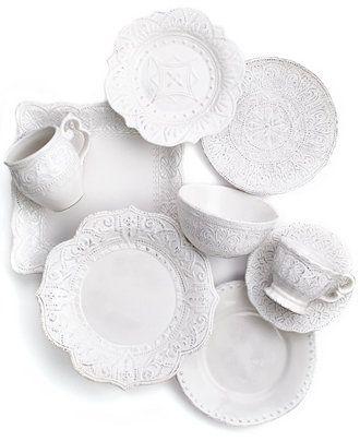 An ornate way to do white, Maison Versailles dinnerware