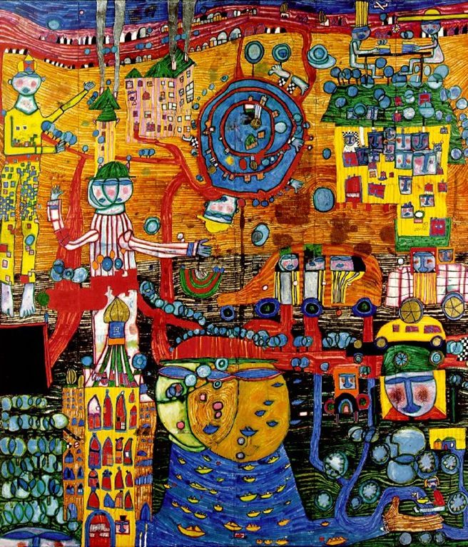 89 best Hundertwasser images on Pinterest | Architecture, Abstract ...