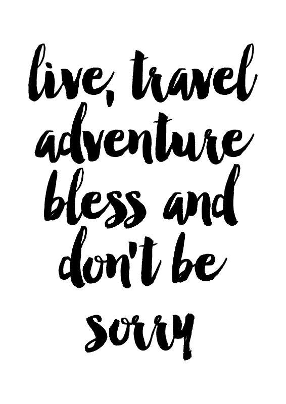 Inspiratie poster Live, travel, adventure