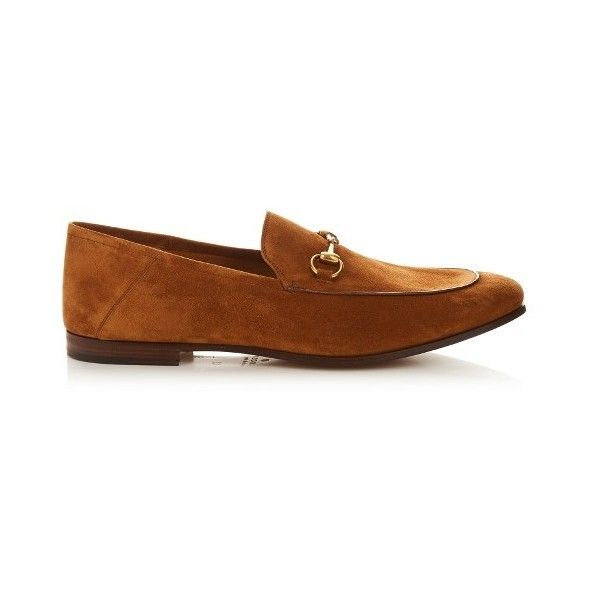 Gucci Horsebit suede loafers (€520) ❤ liked on Polyvore featuring men's fashion, men's shoes, men's loafers, shoes, tan, suede tassel loafers mens shoes, mens loafer shoes, mens brown shoes, mens suede shoes and gucci mens shoes