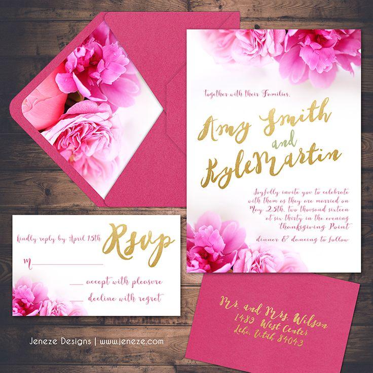 49 best Jeneze Designs Wedding Invitations images on Pinterest
