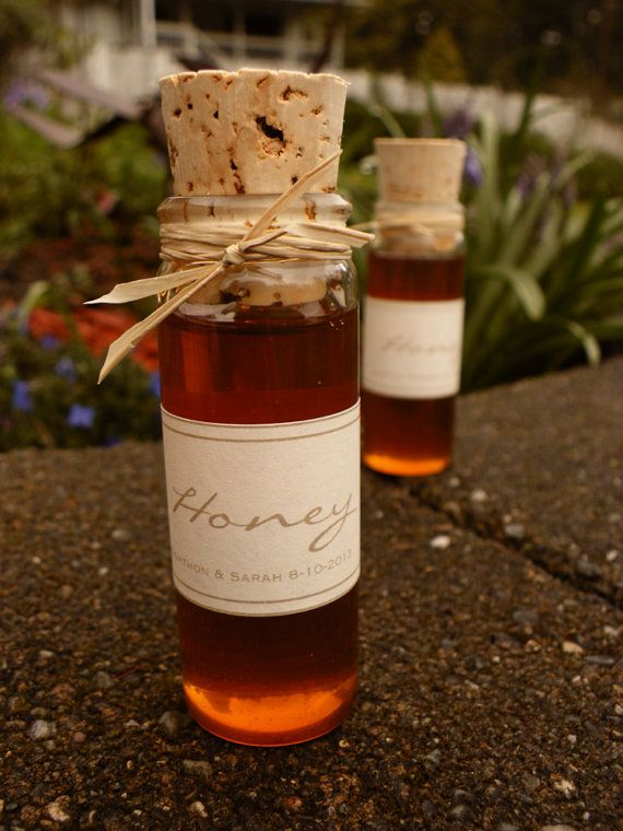 I actually love the look of this honey!  I think these could be really cool favors.  Custom Wedding Favor Rustic Pure Raw by SweetCarolineJams on Etsy, $4.00