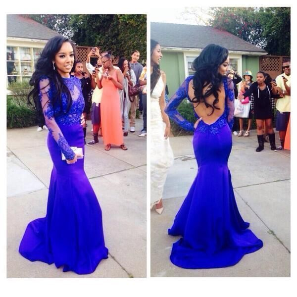 Mermaid Prom Dress,Backless Prom Dress,https://www.storenvy.com/products/17455226-pretty-blue-mermaid-prom-dress-appliques-prom-dress-long-sleeve-prom-dress-2