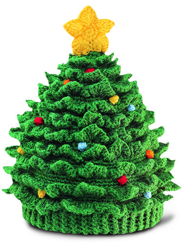 How cute is this Crochet Christmas Tree Hat with Star from San Diego Hat? Super cute! This 100% acrylic hat features colored lights and a bright star on the top. What a festive way celebrate the season while keeping kids' noggins warm.