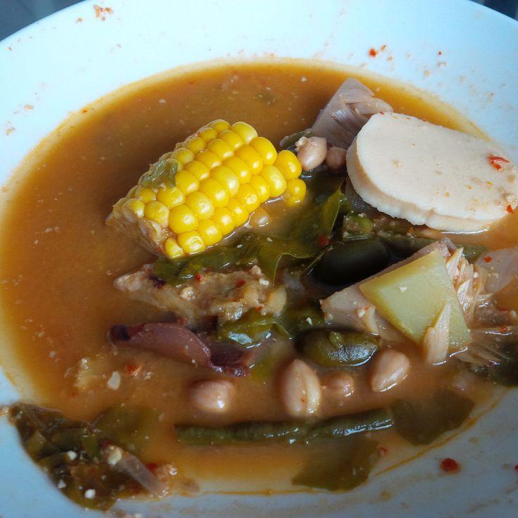 Kombinasi Sunda-Palembang : Sayur Asem + Cemplang.. Yummy..