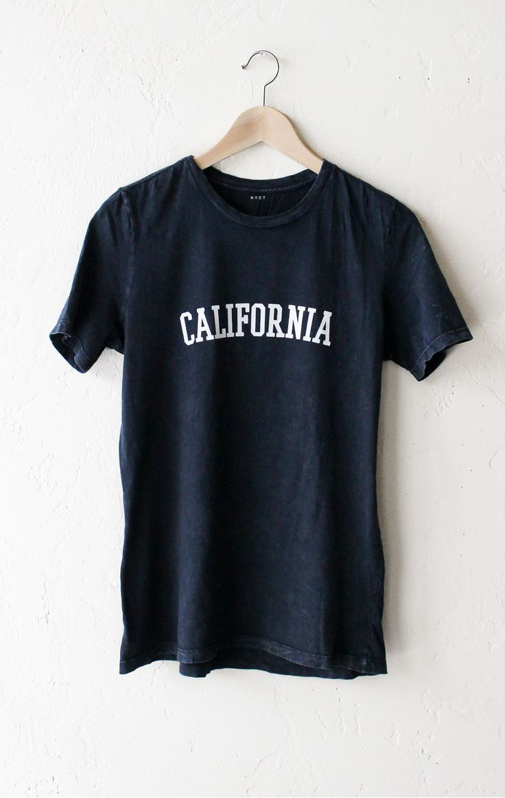 Shirt design words ideas - California Relaxed Tee Acid Wash Black