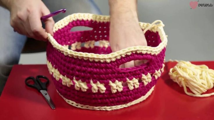 Make Your Own Gift Crochet Basket  for small stuff