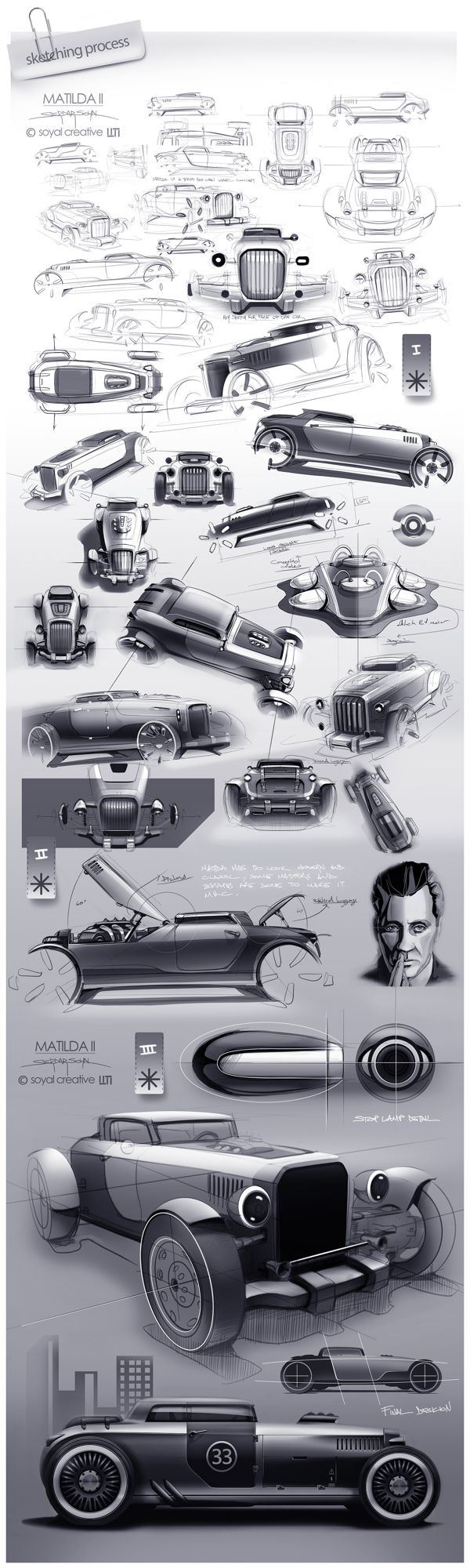 Ideas for my new street rod (More at pinterest.com/gary5mith/ideas-for-my-new-street-rod/)  : Matilda II by Serdar Soyal, via Behance