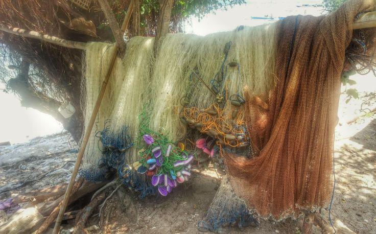 Fishing nets on Gili Air, Lombok