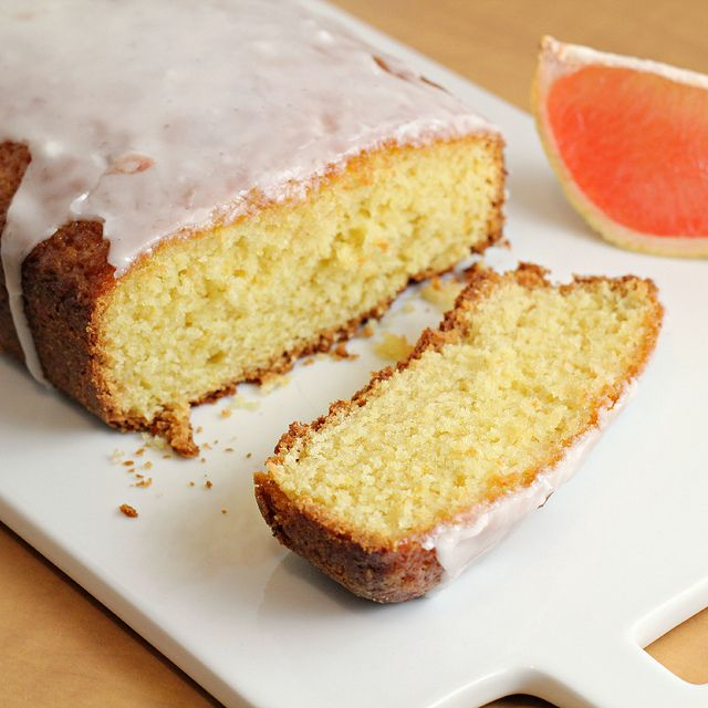 Grapefruit Olive Oil Pound Cake from Smitten Kitchen Cookbook - highly recommended to make from the Piglet Awards