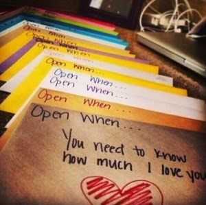 DIY Valentine's Day Gift or Long Distance Relationship gift...open when letters  Makaela's Suitcase