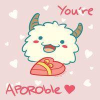 Poro - LoL Valentines Card by Cherrycake4