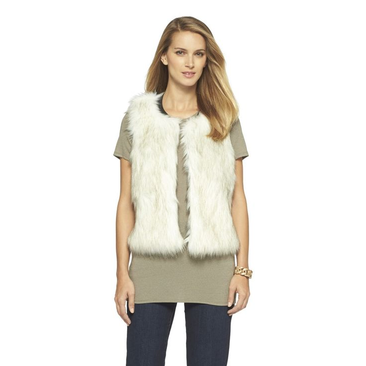 Women's Faux Fur Vest - Mossimo( Im so going to buy this!) but in brown :)