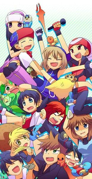 Pokemon Adventures Manga Main Characters