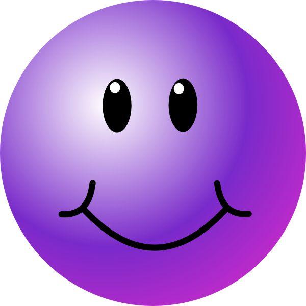 purple emoticons | Purple Smiley Face clip art