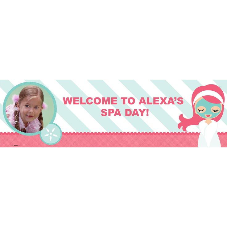 Little Spa Party Personalized Photo Vinyl Banner