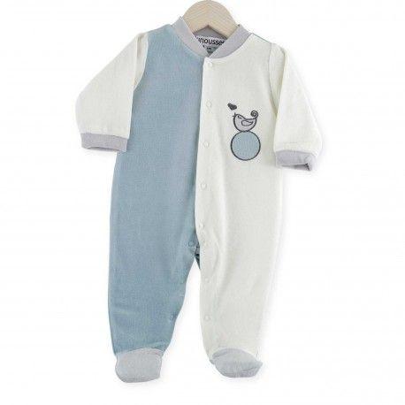 Pijama Pio-Pio #pijama #bebe #reciennacido #pajarito #corazon #blanco #almendra #kinousses