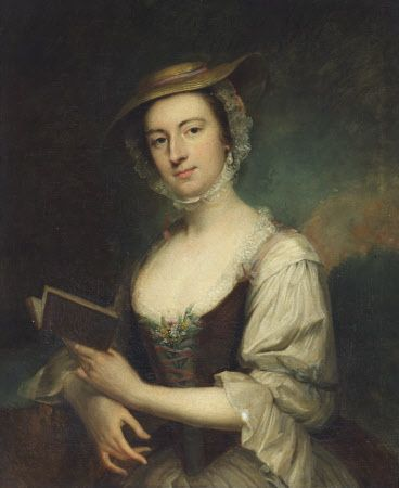 Rhoda Delaval, Lady Ashley (1725-1757) by Arthur Pond. She was a talented artist, taught by Pond, and left letters providing insight into 18thC society life in Northumberland. Seaton Delaval © National Trust Photo Library