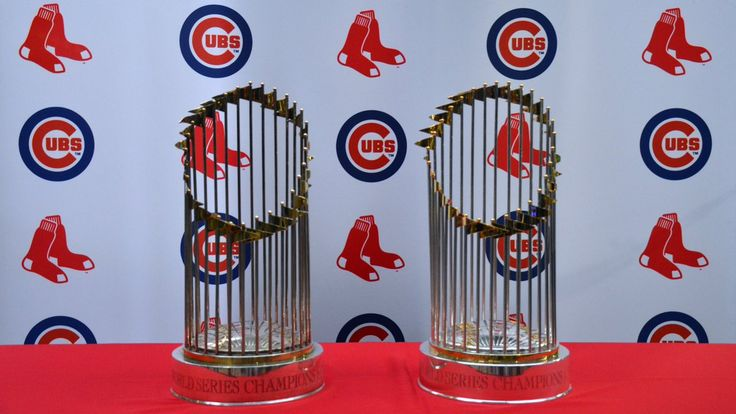 2 Curse Ending World Series Trophies; Red Sox & Cubs; 4-30-17