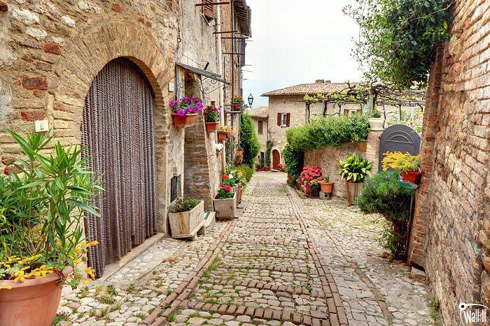 Fototapeta włoska uliczka http://www.wall-it.eu