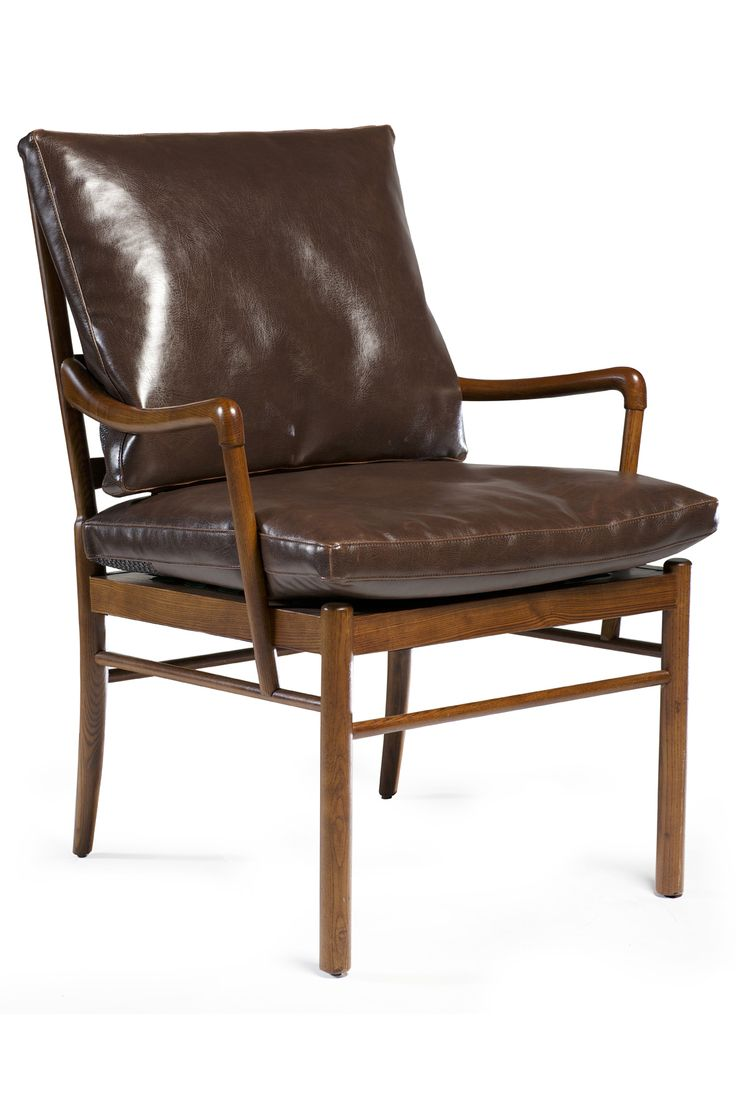 BOLOGNA lounge chair in art. leather with ash legs