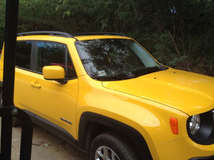 This ellow Jeep was one of the rentals available in