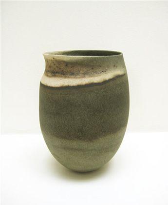 JENNIFER LEE (b. 1956)Pot with asymmetric rim, c. 1988stoneware16.5 x 11 cm (6.5 x 4.3 inches)JLEE264