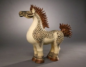 """Chesty Horse"" c.1930s, designed by Walter Inglis Anderson. The Walter Anderson Museum of Art in Ocean Springs, Miss."